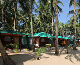Goa Beach Huts with Trees