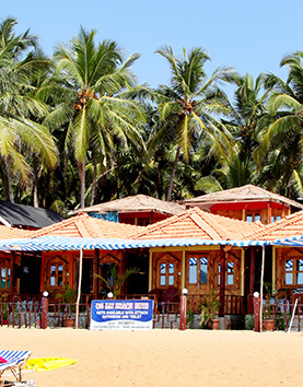 Agonda Beach Huts with Trees